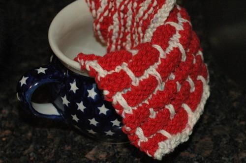 bricky dishcloth and my favorite mug