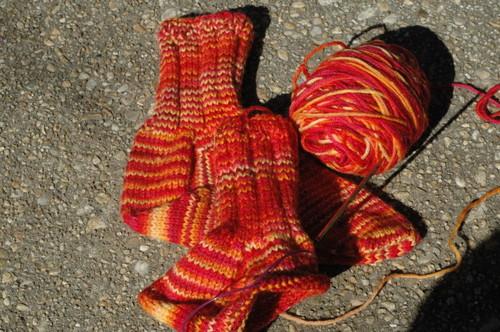 fiery socks