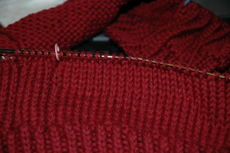 knit picks main line in red velvet cake