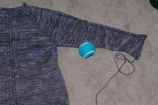 sweater and ball