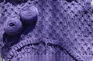 premiere lace cardi back + sleeve beginnings