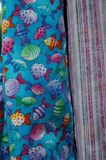 closeup of fabrics