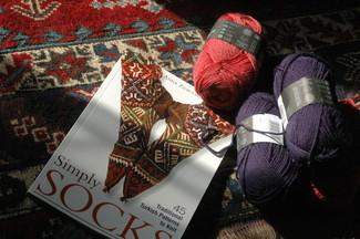 book + yarn